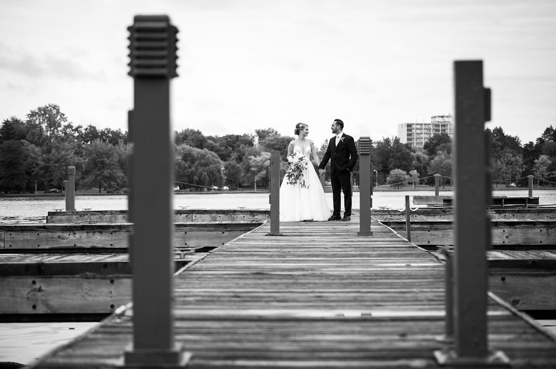 wedding photos, Dow's Lake, Lago restaurant, black and white wedding photography