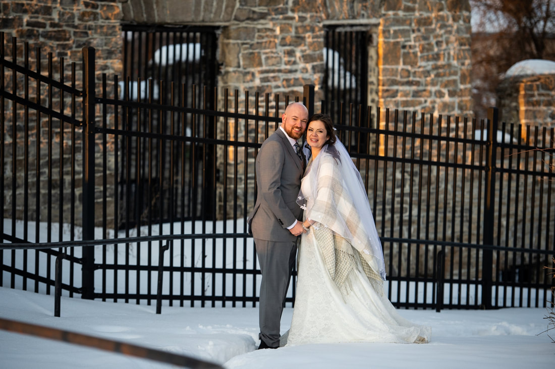 Merrickville Ruins, wedding photos, winter wedding, first dance, Mr. and Mrs., bride and groom, ballroom, Baldachin Inn Wedding, winter wedding, Merrickville