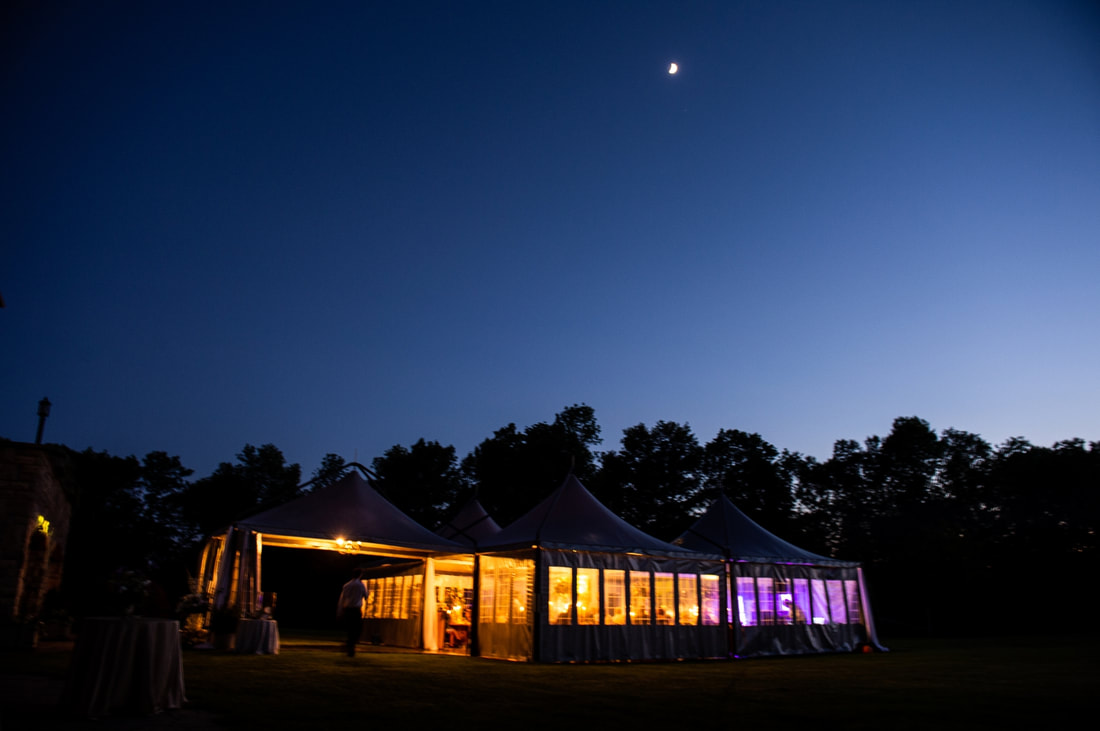 tented wedding reception, backyard wedding, Brockville