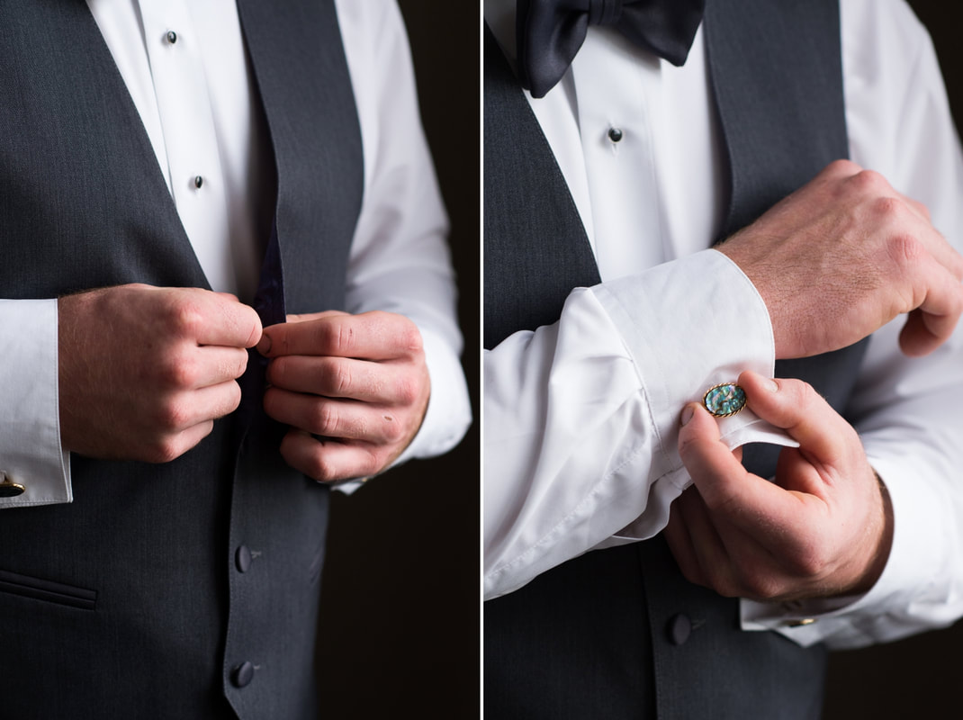 groom getting ready, cuff links