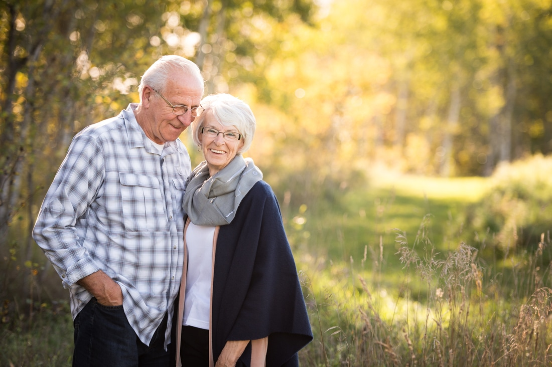 fall family session grandparents portrait