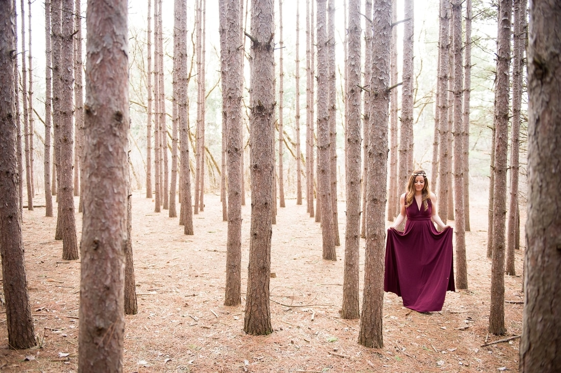 Kortright Engagement Session, The Handmade Bride, Arroh and Bow, woodland theme