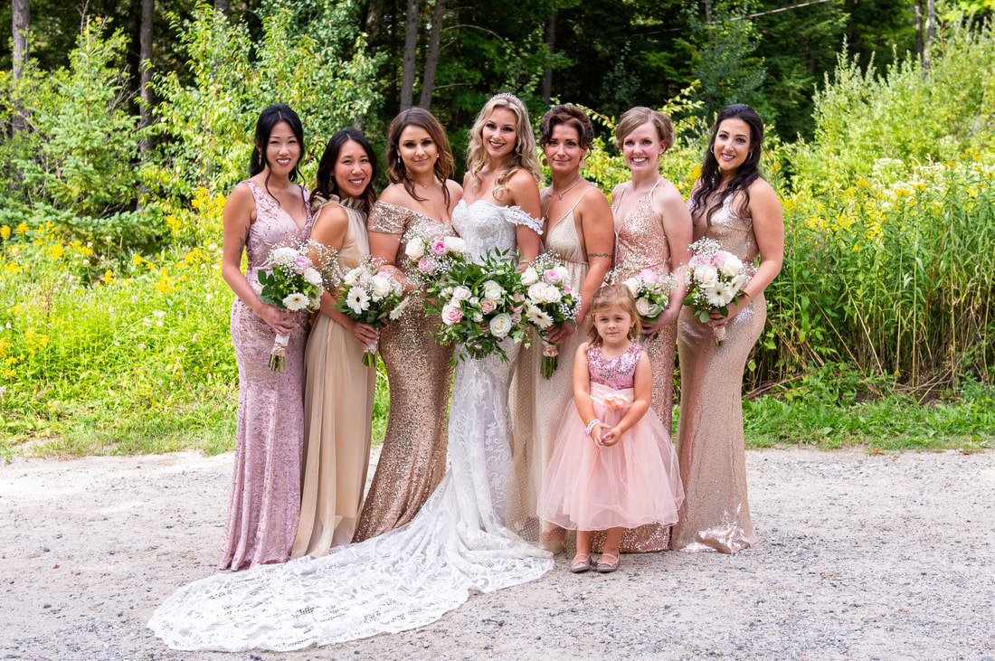 bridesmaids, Le Belvedere, bridal party, Revelle Bridal