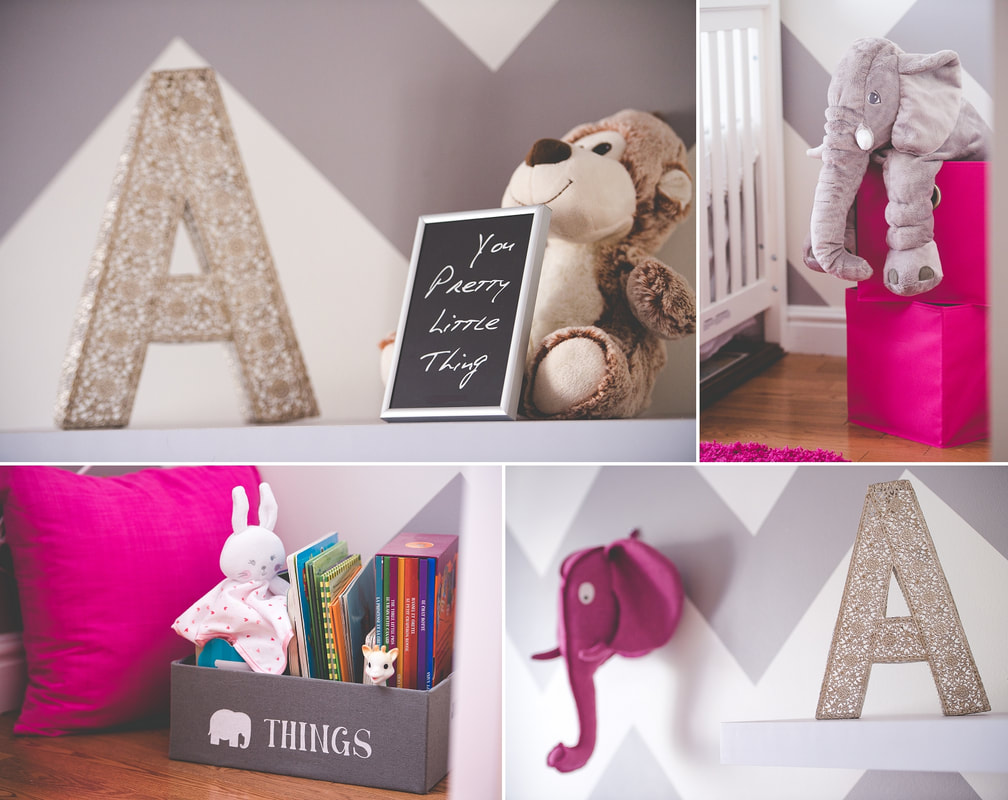 lifestyle newborn session, nursery, decorations