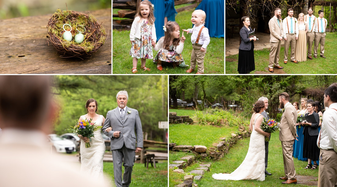 wedding ceremony, Mill of Kintail, Mill of Kintail wedding