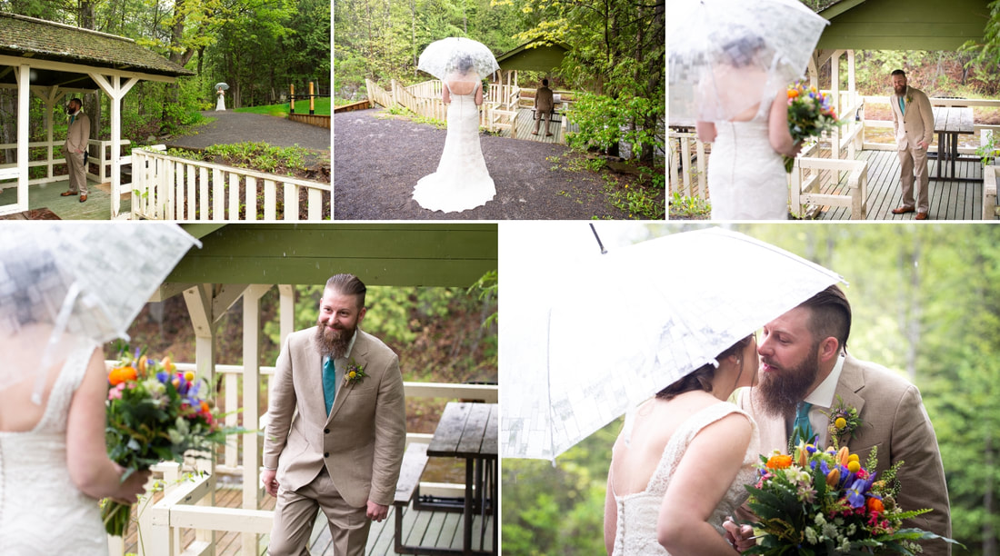 Mill of Kintail wedding, first looks