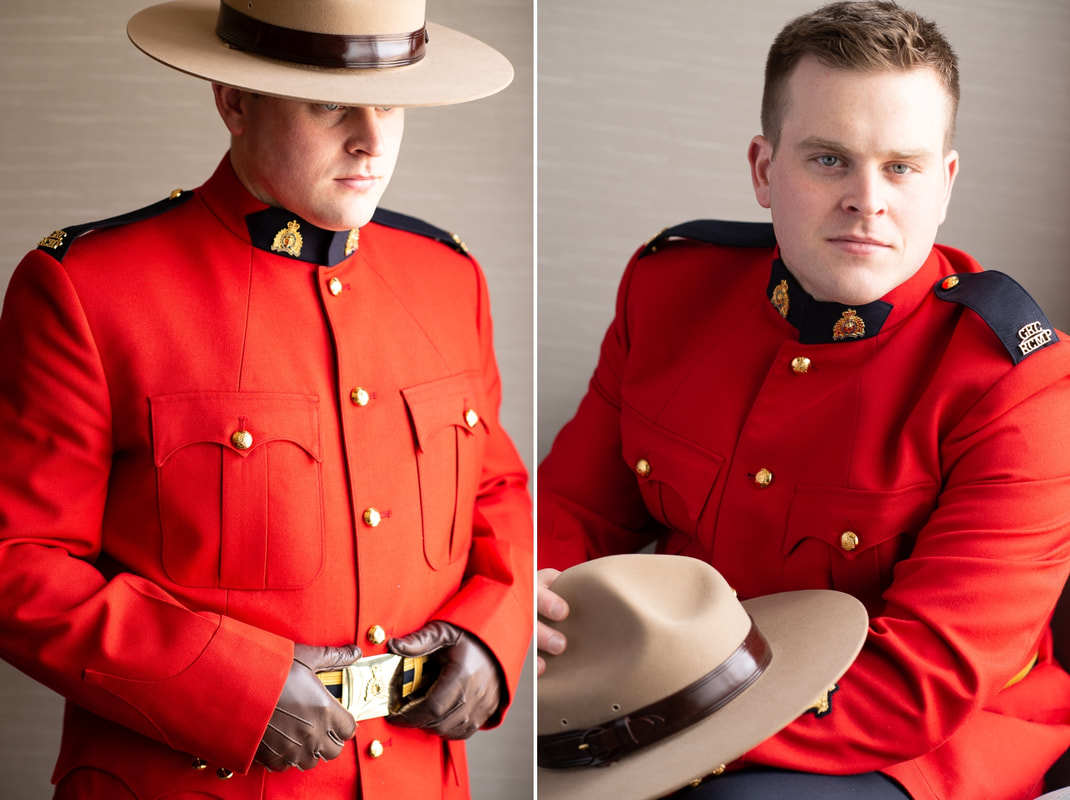 groom portraits, RCMP surge