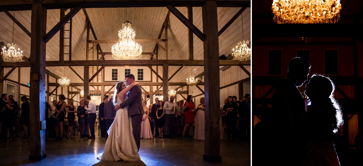 Stonefields wedding, The Loft at Stonefields, first dance, reception, bride and groom, party