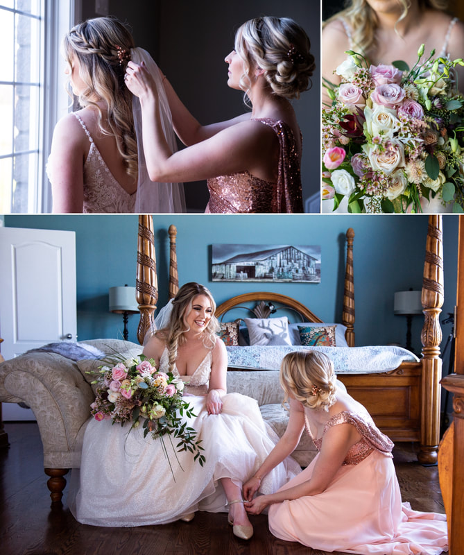 With Love Bridal, Stonefields Wedding, Riverwood Gardens, bridal bouquet, veil, getting ready photos