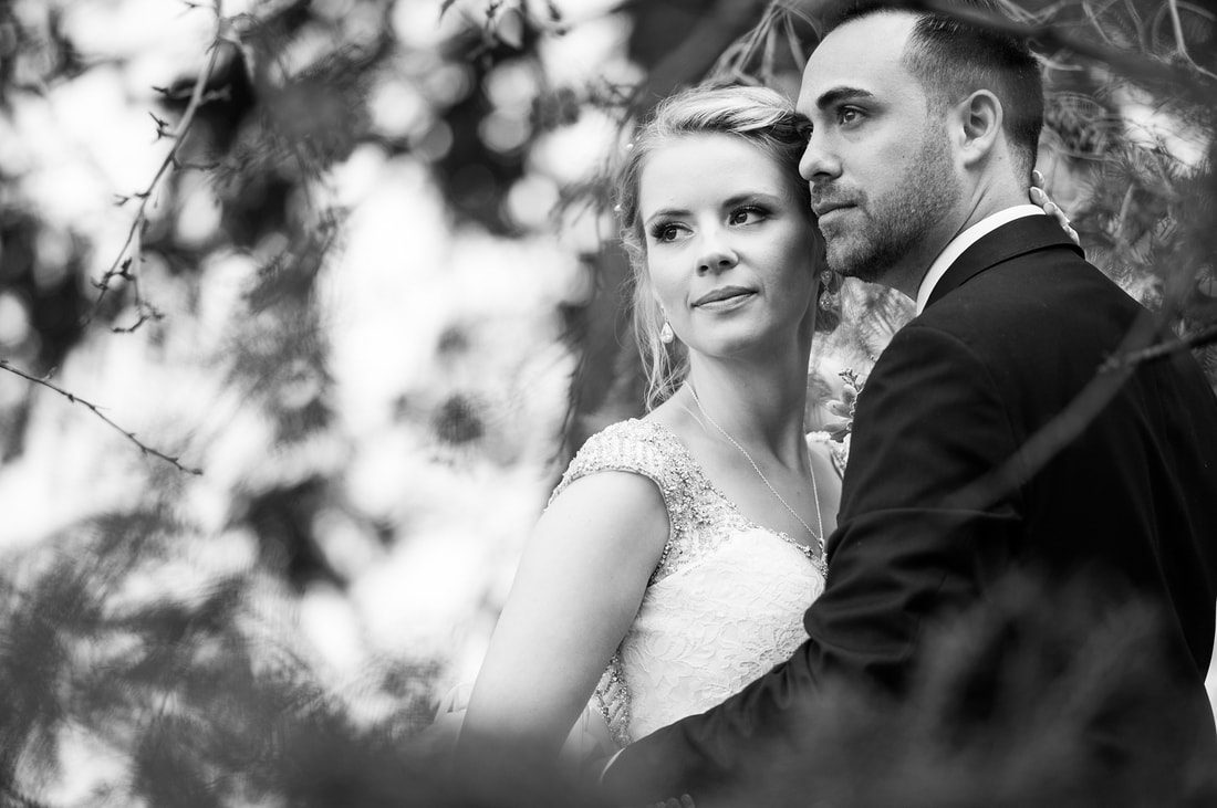 black and white wedding photography, Dow's Lake