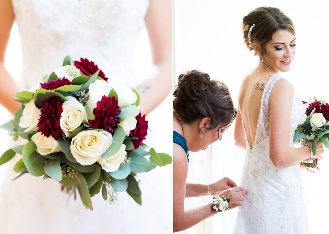 bridal bouquet, bride getting ready