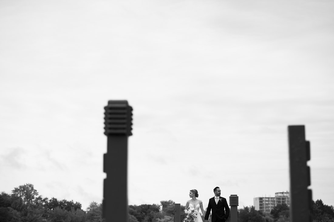 Dow's Lake, wedding photos, black and white photography