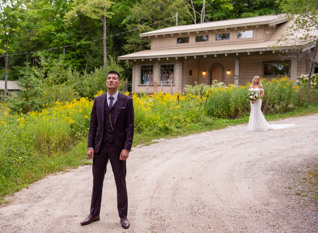 Le Belvedere wedding, first looks, Guest House